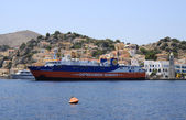 Dodekanisos Seaways Ferry docked at Symi port — Foto Stock
