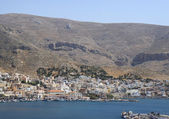 Aerial view of the Kalymnos Town and Port — Stock fotografie