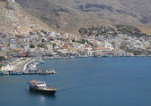 An Aerial view of the Kalymnos Port, Greece — Stock Photo