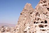 Ruins of Uchisar Cave Dwellings and Castle — Stock Photo