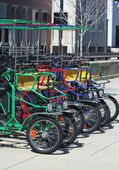 Colorful  Rental Quad Cycles — Stock Photo