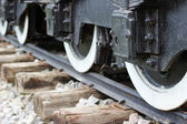 Train wheels on track — Photo