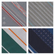 Stock Photo: Set of 4 detailed sewn materials