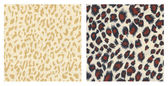 Set of2 detailed animal print materials — Stock Photo