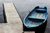 Old blue boat — Stock Photo