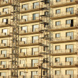 Building covered by scaffolds - Foto Stock