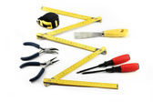 Various tools on white background — Stock Photo