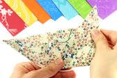 Folding origami — Stock Photo
