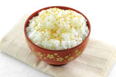 Japanese rice with sesame seeds — Stock Photo