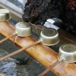 Stock Photo: Shinto shrine purification basin