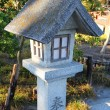 Japanese lantern at shinto temple — Stock Photo