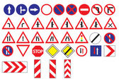European vector roadsigns ( EPS 10 ) — Stock Vector