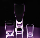 Empty glasses — Stock Photo