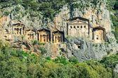Ancient Ruins Dalyan — Stock Photo