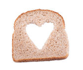 Bread heart — Stock Photo