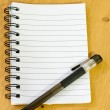 Notepad and pen — Foto de Stock