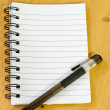 Notepad and pen — Stock Photo #13123298