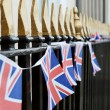 Stock Photo: UK flag on railings