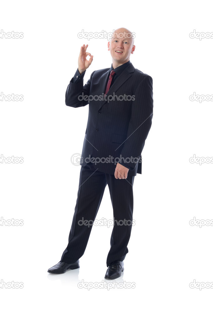Man is suit giving the ok sign — Stock Photo #13124363