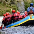 Teamwork raft - Stock Photo