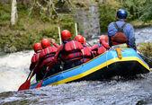 Teamwork raft — Stock Photo