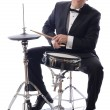 Tuxedo playing drums — Stock Photo #13794072
