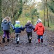Children walking — Stock Photo #16792505