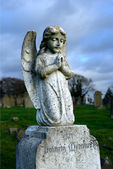 Cherub on grave — Foto Stock