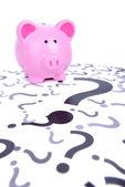 Piggy bank question — Stock Photo