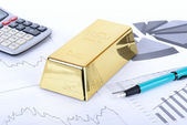 Gold stocks — Stock Photo