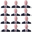 Businessman expressions — Stock Photo