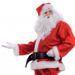 Santa presenting — Stock Photo