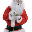 Santa counting — Stock Photo