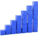 Euro bar graph — Stock Photo #33347977