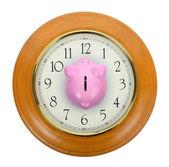 Piggy bank clock — Zdjęcie stockowe
