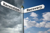 Recession or recovery — Stock Photo