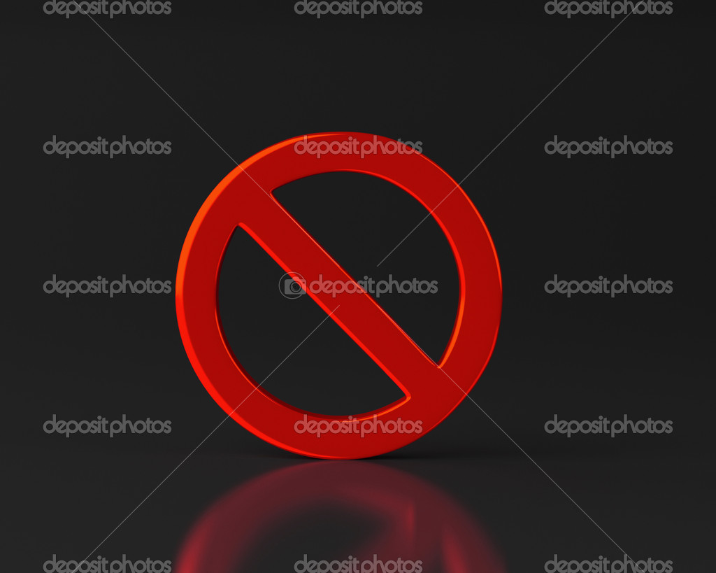 "This illustration is a 3d render representing a ""no sign"" — Stock Photo #14553079"