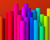 Colorful abstract background of pillars — Stock Photo