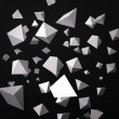 Abstract black background made of white prisms — Stock Photo #17185943
