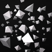 Abstract black background made of white prisms — Stock Photo