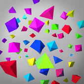 Abstract gray background made of color prisms — 图库照片