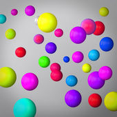 Abstract gray background made of color spheres — Foto Stock