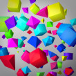 Stock Photo: Abstract gray background made of color cubes and prisms