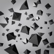 Abstract gray background made of black prisms — Stock Photo #25051091