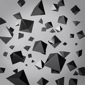 Abstract gray background made of black prisms — Stock Photo