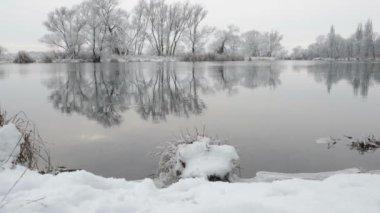 Winter landscape at Havel River (Brandenburg - Germany) — Stock Video