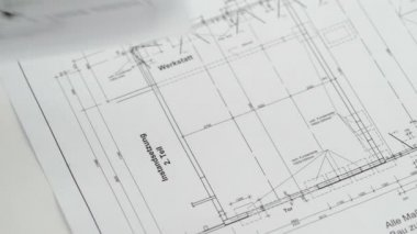 Blueprint for house construction — Stock Video