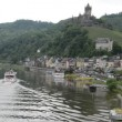 Tourist boat at Mosel River in Cochem (Germany) — Stock Video