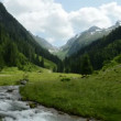 Zillertal Alps time-lapse of stream water — Stock Video #29915191