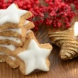 Stock Video: Christmas sweets like cinnamon pastry and candle